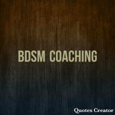 BDSM Coaching/Beratung